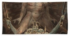 The Great Red Dragon And The Beast From The Sea Beach Towel