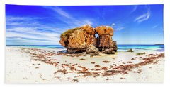 Beach Sheet featuring the photograph The Sentry, Two Rocks by Dave Catley