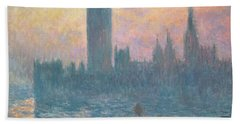 The Houses Of Parliament  Sunset Beach Towel