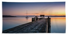 The Jetty To Sunset Beach Towel
