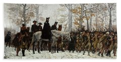 The March To Valley Forge Beach Towel