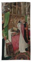 The Mass Of Saint Giles Beach Towel by Master of Saint Giles