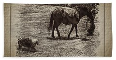 The New Mare And The Perfect Summer Day Beach Towel by Anastasia Savage Ealy