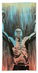 Beach Towel featuring the painting The Overcomer by Nathan Rhoads