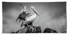 The Pelicans Beach Towel
