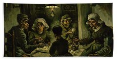 The Potato Eaters, 1885 Beach Sheet by Vincent Van Gogh