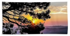 Beach Towel featuring the photograph The Rising Sun by Nancy Marie Ricketts