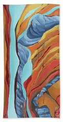 Beach Towel featuring the painting The Rocks Cried Out, Zion by Erin Fickert-Rowland