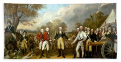 The Surrender Of General Burgoyne Beach Sheet by War Is Hell Store