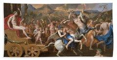 The Triumph Of Bacchus Beach Sheet by Nicolas Poussin