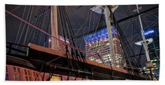 Beach Towel featuring the photograph The Uss Constellation by Mark Dodd
