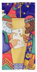 The Wise Men Looking For The Star Of Bethlehem Beach Towel