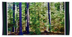 The Woods Beach Towel by Shirley Moravec