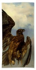 The Wounded Eagle Beach Towel