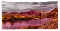 Beach Towel featuring the photograph The Yakima River by Jeff Swan
