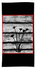 Thistles By The Barn Beach Towel
