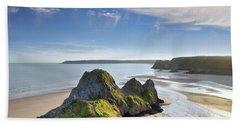 Three Cliffs Bay 5 Beach Towel