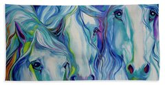 Three Spirits Equine Beach Towel