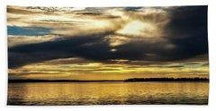 Thunderbird Sunset Beach Towel by Doug Long