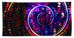 Time Spiral Beach Towel