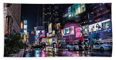 Times Square Nyc Beach Towel