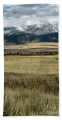 Tobacco Root Mountains Beach Towel by Cindy Murphy - NightVisions