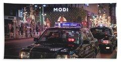 Tokyo Taxis, Japan Beach Sheet