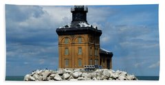 Toledo Harbor Lighthouse Beach Sheet by Michiale Schneider