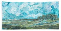 Beach Towel featuring the painting Toward Pinckney Island by Kathryn Riley Parker