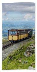 Train To Snowdon Beach Sheet by Ian Mitchell