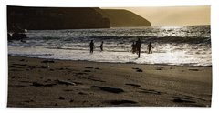 Beach Sheet featuring the photograph Photographs Of Cornwall Trevellas Cove Cornwall by Brian Roscorla