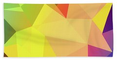 Triangle Abstract Color Beach Towel