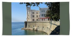 Trieste Miramare Castle Beach Sheet
