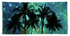 Tropical Night Beach Towel by Delphimages Photo Creations