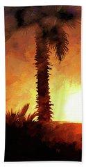 Tropical Sunset Beach Sheet