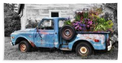 Truckbed Bouquet Beach Sheet