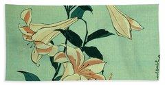 Trumpet Lilies Beach Towel
