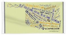Tu Word Art University Of Tulsa Beach Towel