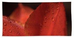 Tulip Raindrops-3799 Beach Towel