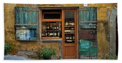 Tuscany Wine Shop 2 Beach Sheet