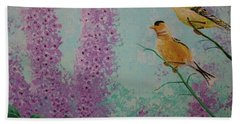 Two Chickadees Beach Towel