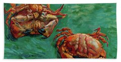 Two Crabs Beach Towel