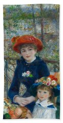 Two Sisters On The Terrace Beach Towel