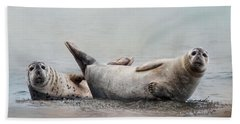 Beach Sheet featuring the photograph Two's Company by Robin-Lee Vieira