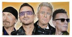 U2 Band Beach Towel