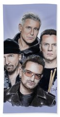 U2 Beach Sheet by Melanie D