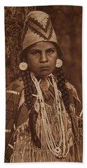 Umatilla Maid , Native American By Edward Sheriff Curtis, 1868 - 1952 Beach Towel