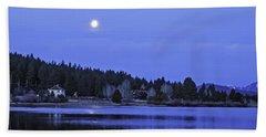 Under A Winter Moon Beach Sheet by Nancy Marie Ricketts