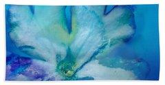 Underwater Flower Abstraction 7 Beach Sheet by Lorella Schoales