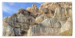 Unstable Cliffs Beach Towel
